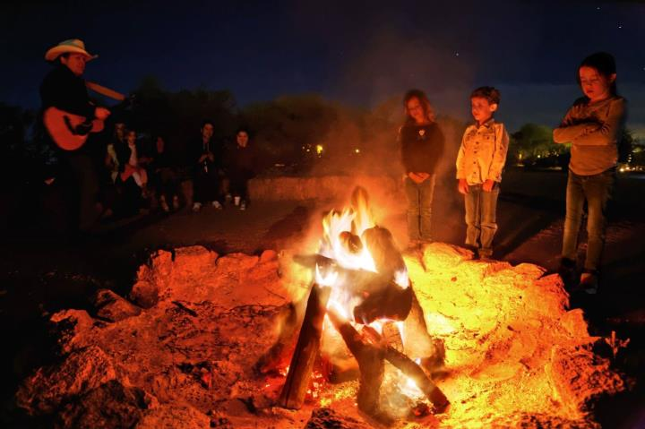 White Stallion Ranch campfire