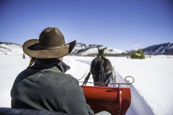 Sleigh Ride at Vista Verde Ranch