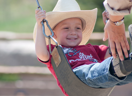 C Lazy U Kids Swing Colorado Ranch