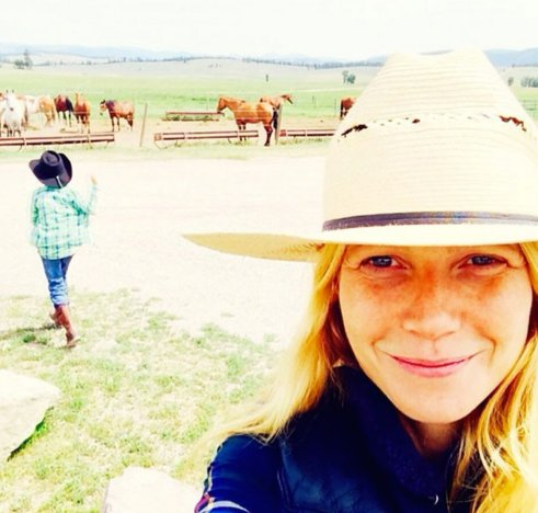 Gwyneth on her dude ranch vacation!