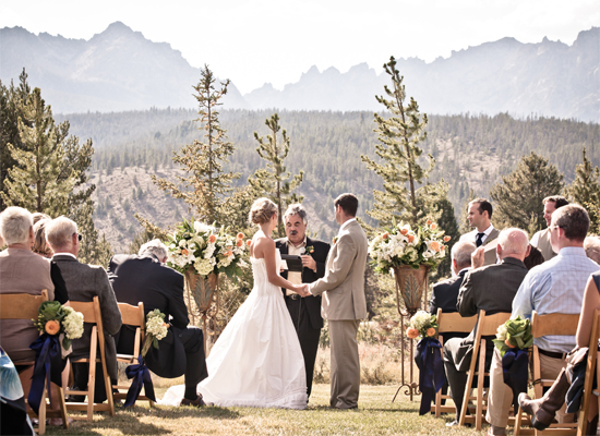 Idaho Rocky Mountain Ranch Wedding Ceremony
