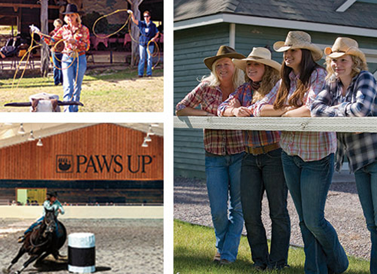 Cowgirls at The Resort at Paws Up, Montana