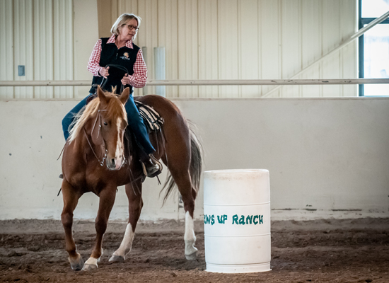 Paws Up Barrel Racing Cowgirl Roundup