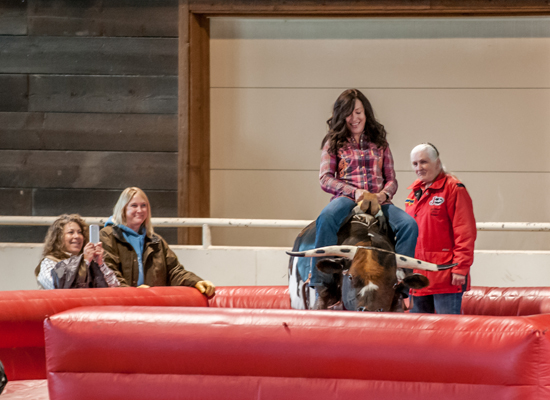Paws Up Bronc Riding Cowgirl Roundup 2014