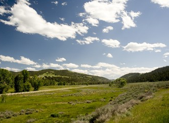 Ranch at Rock Creek Montana view open plains blue sky